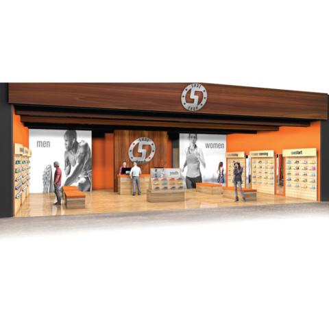 store visualization shoe store permanent