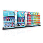temporary display corrugated in-line side counter Jarden