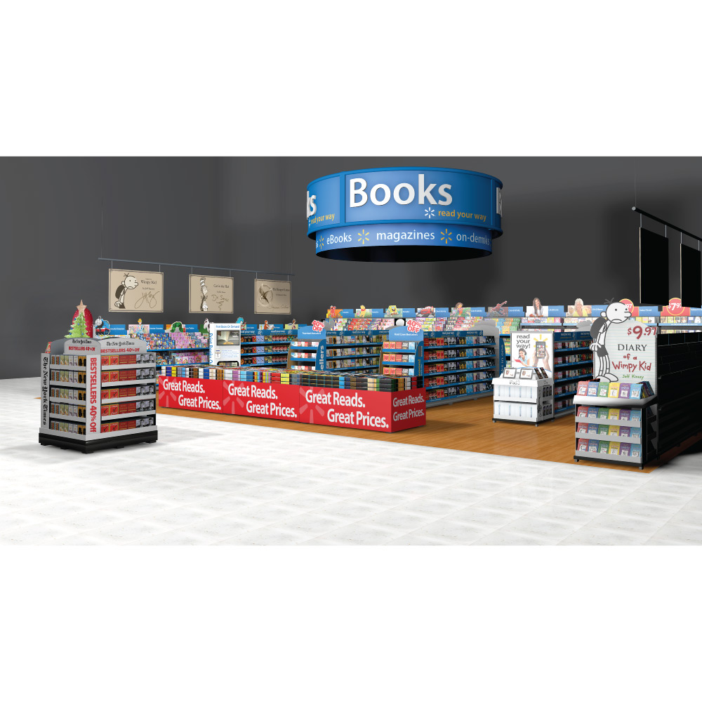 store visualization Walmart books magazine
