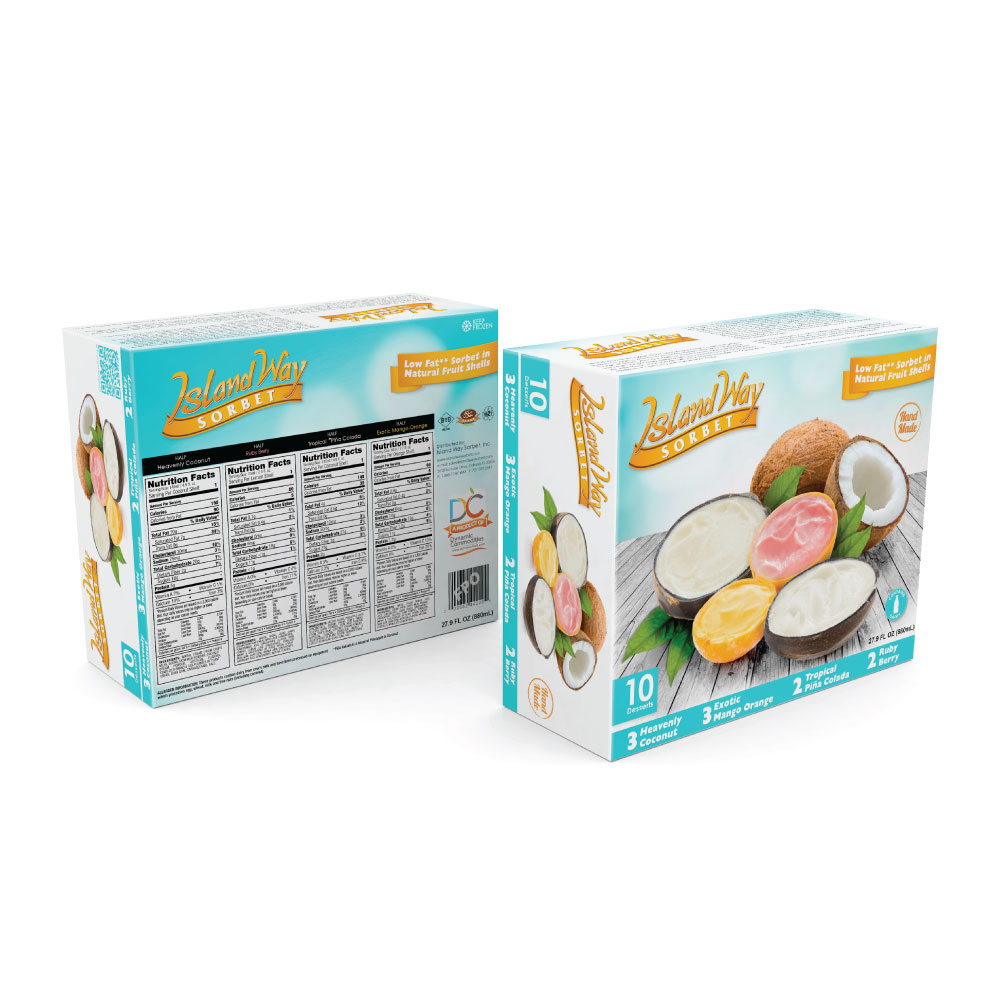 primary packaging island way sorbet