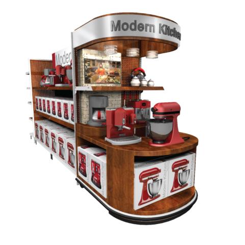 permanent display kitchen aid floor model
