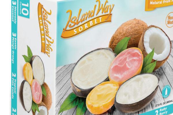 Primary packaging Island way sorbet