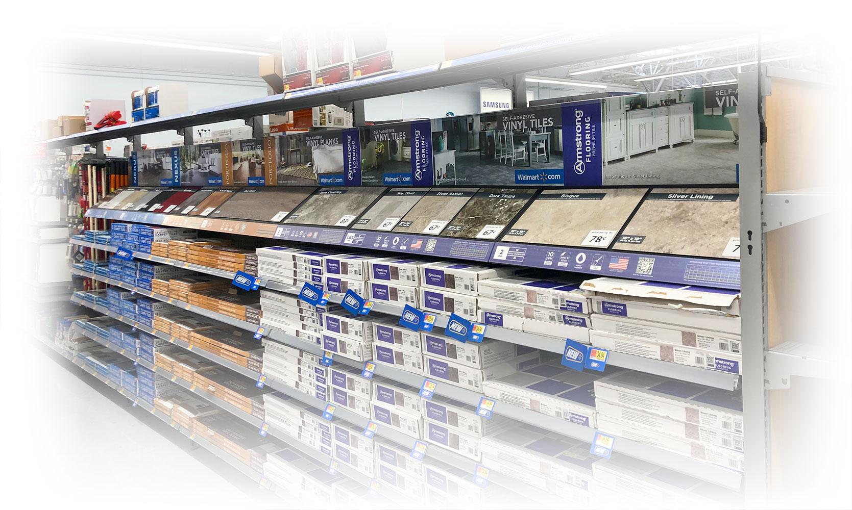 Walmart permanent flooring samples headers