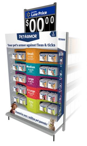 Walmart Pet Armor permanent display end cap
