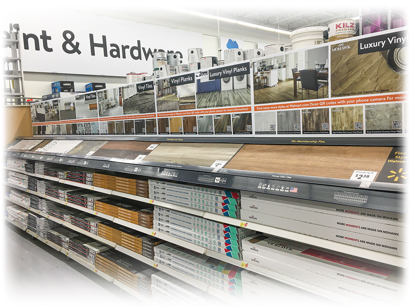 Walmart Flooring display