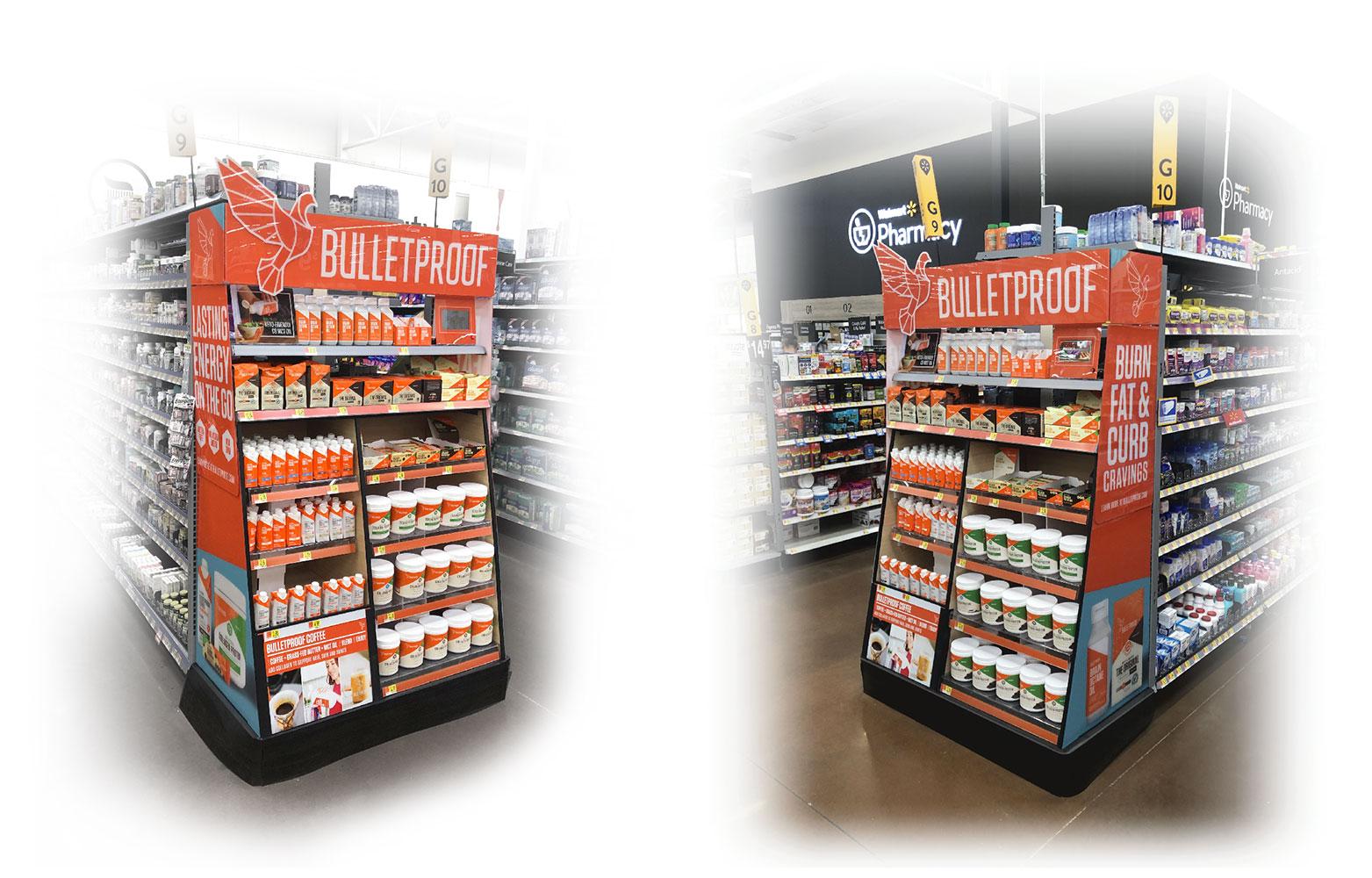 Bulletproof Walmart OTC display